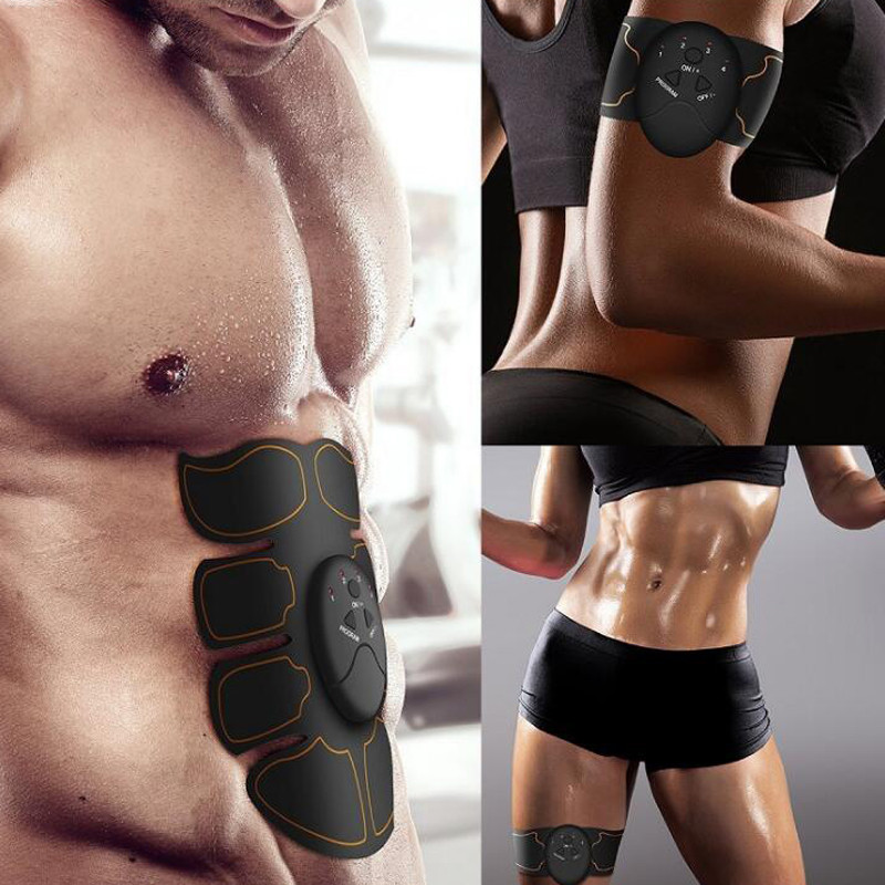 New Smart EMS Muscle Stimulator ABS Abdominal Muscle Toner Body Fitness Shaping