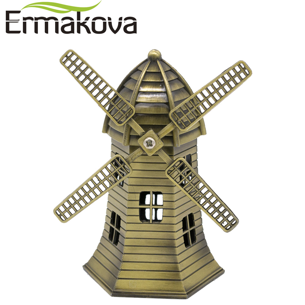 Figurine Windmill Home-Decor-Ornaments Holland ERMAKOVA Model Building Metal Home-Furnishing-Articles