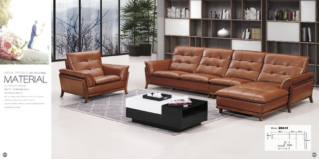 top graded italian genuine leather sofa sectional living room sofa ...