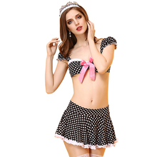 2019 Women's Underwear Sexy Erotic Lingerie Maid Wear High-end Sexy Uniforms Temptation Maids Sex Game Nightdress Hot Sale 2018 women s underwear set sexy uniforms sexy nurses uniforms temptation adult product high end lace ladies cosplay sex game