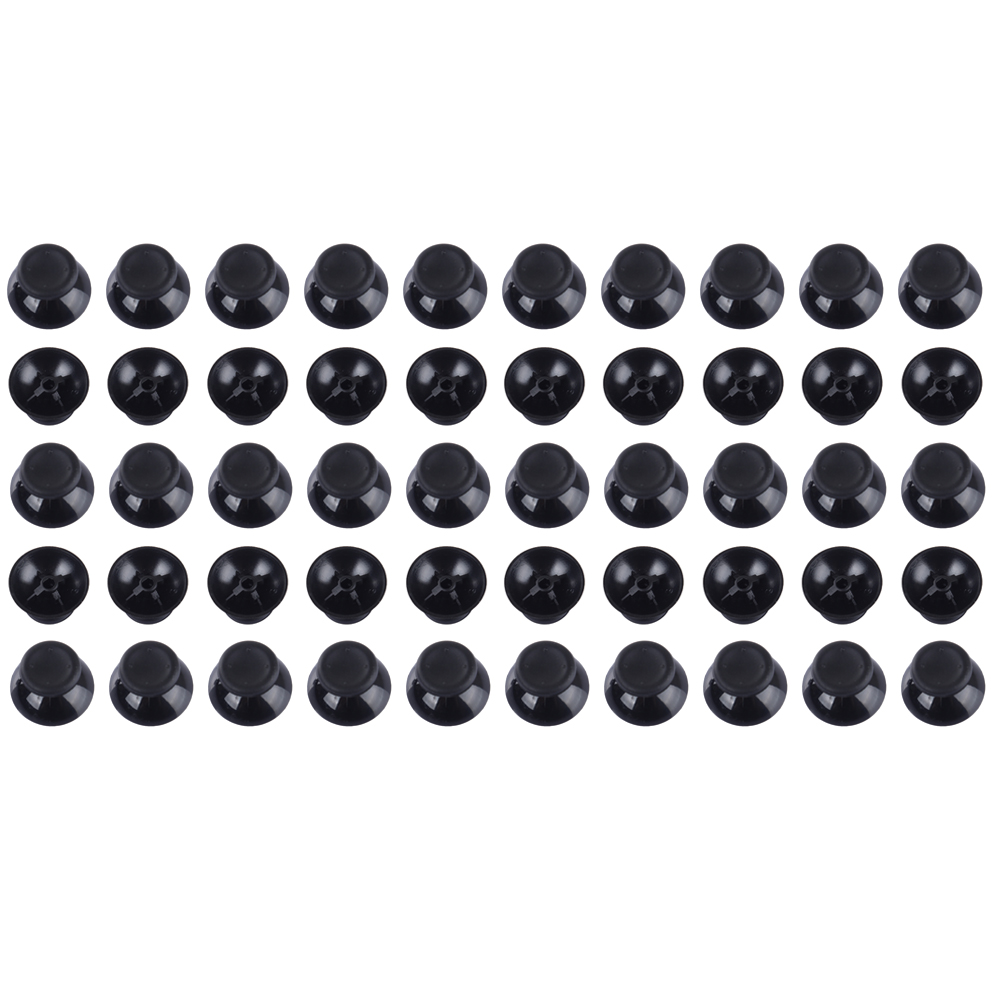 50pcs/set Black 3D Analog Cap Cover Thumb Sticks Joystick Thumbstick Mushroom Cap Cover For Microsoft XBOX 360 Controller L3FE for xbox one xbox 360 3d analog joystick stick module mushroom cap for sony ps4 playstation 4 ps3 controller thumbstick cover