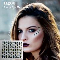 RG05 Mermaid Green Shine Resin DIY Face and Eye Gem Jewel Sticker you can  be shine b31d8402a949