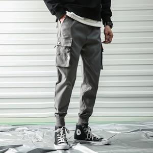 Image 5 - hip hop men pantalones hombre kpop casual cargo pants skinny sweatpants joggers modis streetwear trousers harajuku track pants