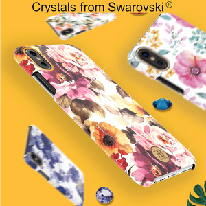 Image 3 - Original Kingxbar Crystals Rhinestone Flower Case For Apple iPhone XS XS MAX X Fashion Built in Metal Plate Hard Back Cover Case