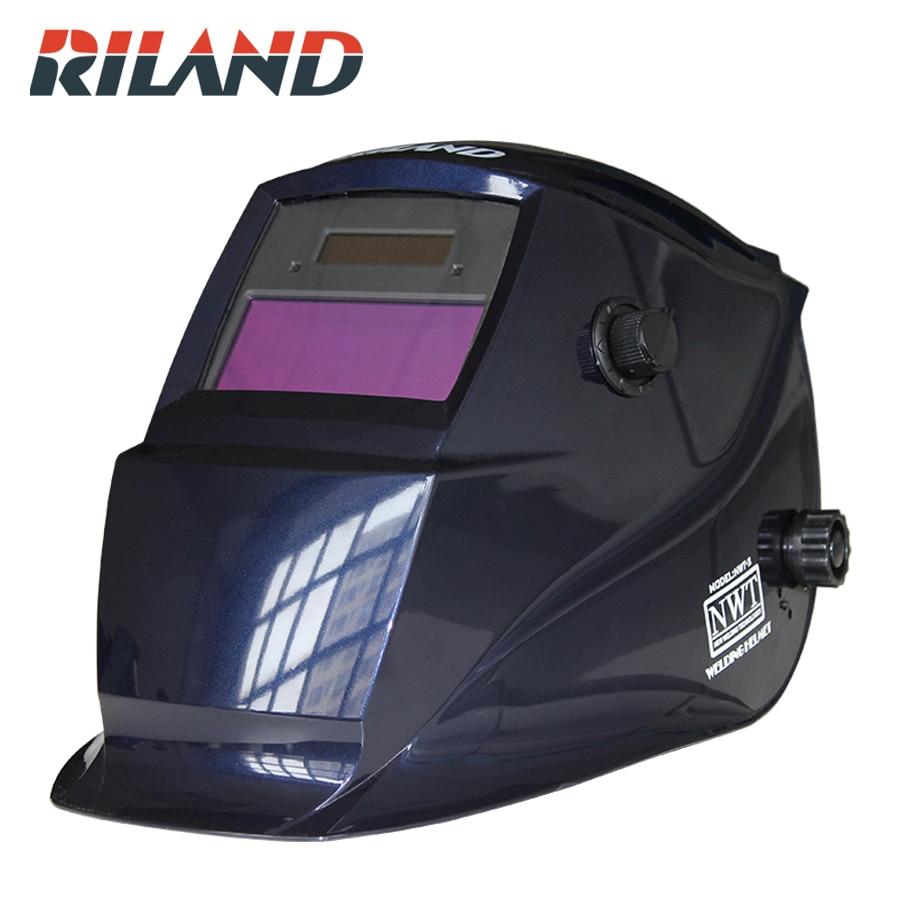 RILAND X701B Solar Powered Auto Darkening Welding Helmet Adjustable for MIG TIG Arc Welder Mask solar powered auto darkening welding helmet adjustable shade range 4 9 13 for mig tig arc welder mask diversify design