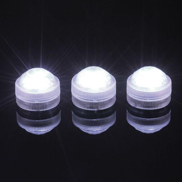 20 stks bruiloft tabel centrepieces verlichting groothandel waterdichte micro led dompelpompen verlichting met batterij voor