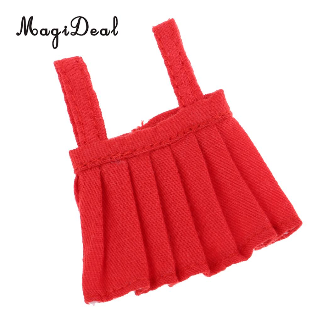 Casual Outfit Handmade Clothing Pleated Skirt Frilly Dresses For 4inch OB11 Doll Evening Party Dress Up