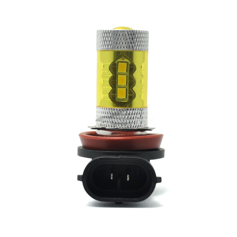 Brand New New High power 80W 2PCS (1Pair) LED Fog Light H8 H11 4300K Yellow 2323 Driving Bulbs 12V Car Fog Lights Lamp