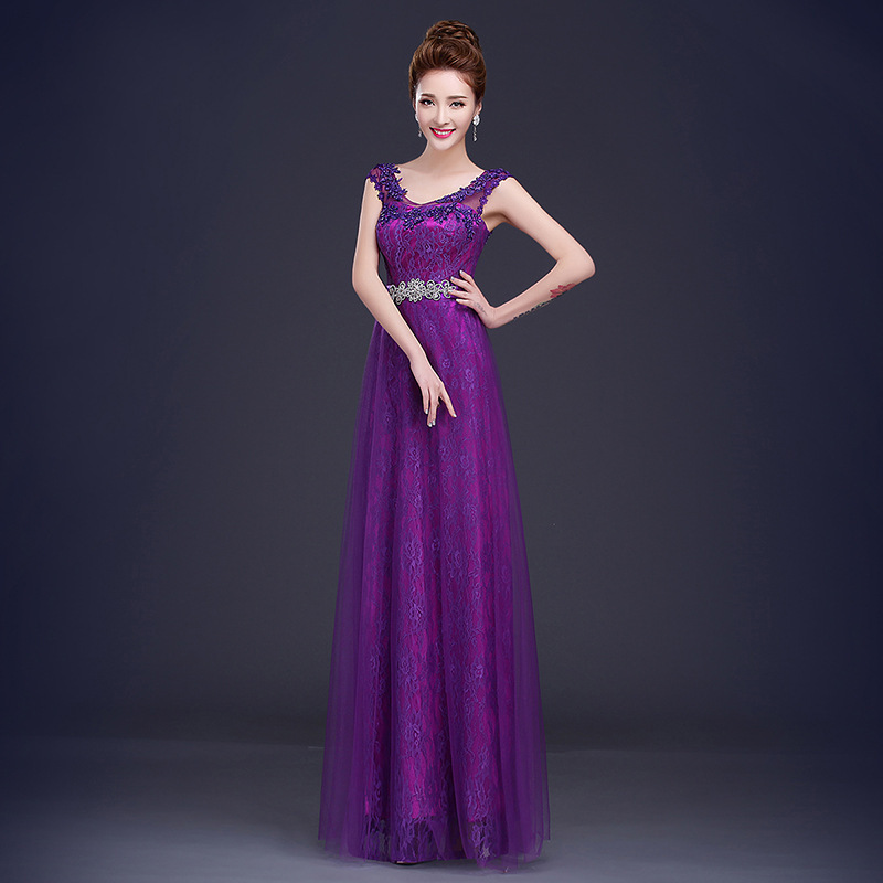 new fashion 6 colors red rose royal blue purple women lady prom ...