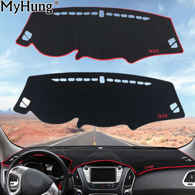 For Hyundai IX35 2010 To 2013 Car Dashboard Avoid Light Pad Instrument Platform Desk Cover Mats Carpets Auto Accessories 1PC miele km 2010 ix