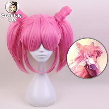 New High Quality Sailor Moon Chibi Moon Cosplay Wig Pink Women Wigs Heat Resistant Synthetic Hair Perucas + Free Wig Cap стоимость