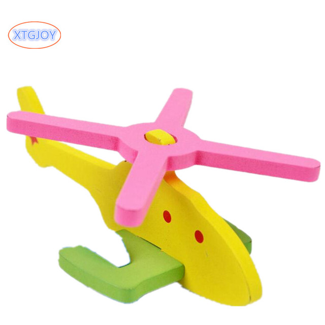 4 Sets 3D Stereo PuzzleToy Kids Manual Assembly Model Aircraft DIY Children Intellectual Development Wooden Educational Toys