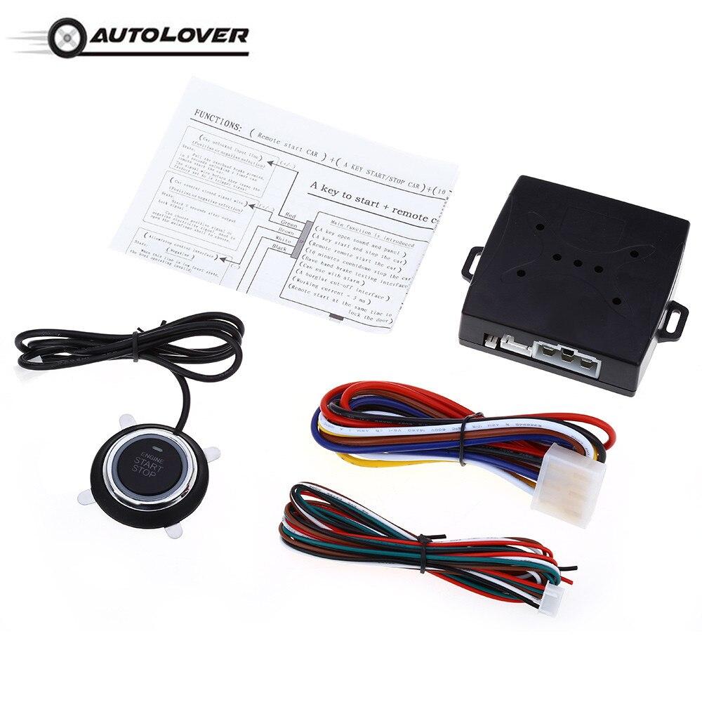 Allarme Auto RFID Dito Push Start Tasto del Telecomando Avviamento Keyless Start Stop Sistema di Allarme Auto Transponder Immobilizer