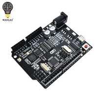 WAVGAT UNO R3 + WiFi + ATmega328P + ESP8266 (32Mb de memoria) USB-TTL CH340G para Arduino Uno NodeMCU WeMos ESP8266 una nueva llegada