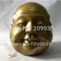20 CM Huge 4 faces copper buddha head statuary AAA AB00075