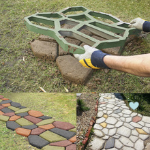 Модель B сад прогулки производитель плесень путь Pathmate с бетоном форма для производства брусчатки тротуара Плесень Модель B