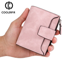 Hot  Design Womens Coin Bag Short Zipper High Quality Wallets for Female Small Cute Fashion Purse Two Fold Wallet PJ011