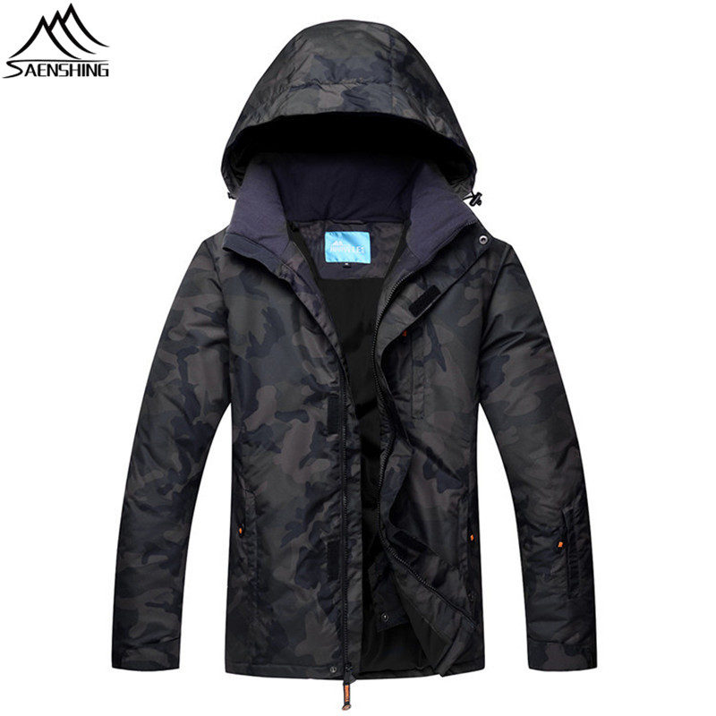SAENSHING Winter Ski Jacket Snowboard Sportswear Waterproof Windproof Warm Snow Jacket Men Outdoor Skiing And Snowboarding Wear airgracias elasticity jeans men high quality brand denim cotton biker jean regular fit pants trousers size 28 42 black blue