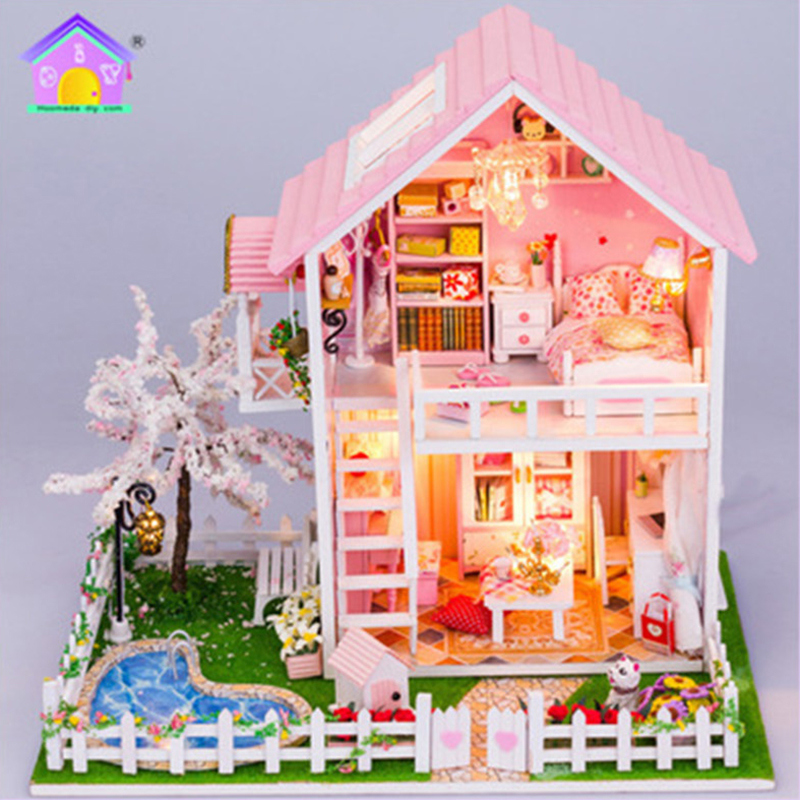 Architecture/diy House/mininatures Diy Romantic Glass House 3d Miniature Assemble Mini Norwegian Tree House Building Dollhouse With Funitures Toys Birthday Gifts Colours Are Striking Model Building