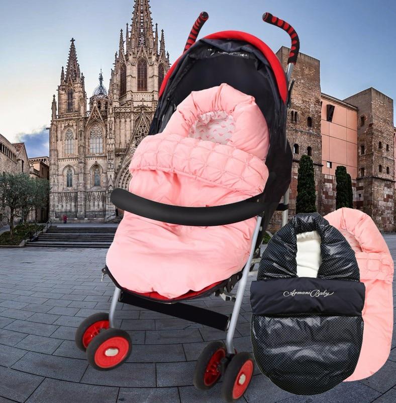 ФОТО Baby Stroller Accessories Winter Warm Spring Autum Stroller carseat Sleeping Bag Newborn Infant Thick Sleepsacks Pram Footmuff