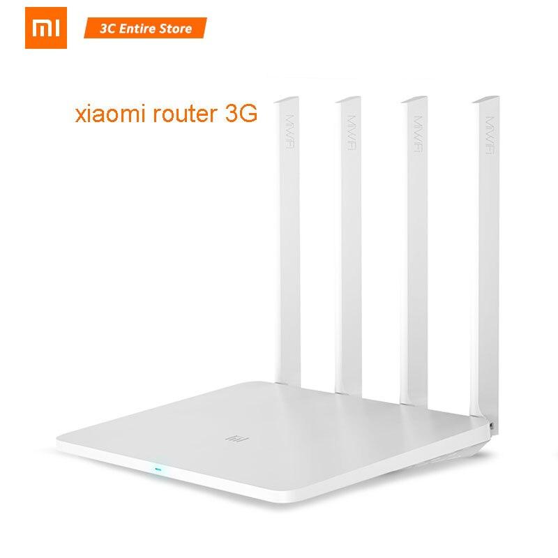Routeur WiFi d'origine Xiao mi mi 3G 1167Mbps 2.4GHz 5GHz double bande 128 mo ROM Wi-Fi 802.11ac quatre puissantes antennes à Gain élevé