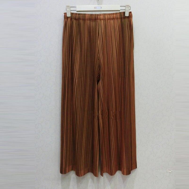 Elástico Pantalones Pierna 2019 Marea Chart Changpleat Miyak Pliegues Nueva Básica Plisado Chart Cintura P09 Raya Femenina Ancha see See Moda De Mujeres Primavera gTWTq86v