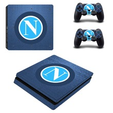 Napoli Football Team PS4 Slim Skin Sticker For Sony PlayStation 4 Console and Controllers Decal PS4 Slim Sticker Vinyl