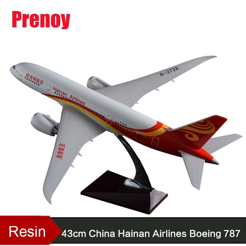 Modèle d'avion en résine 43 cm modèle B787 chine Hainan Airlines modèle d'avion Boeing 787 Airbus Airways modèle Stand modèle d'aviation artisanale