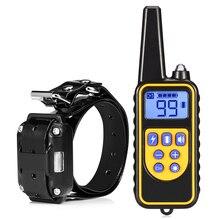 800 м электрический ошейник для собак Pet пульт дистанционного управления водостойкий перезаряжаемый с ЖК-дисплеем для всех размеров Bark-стопорные кольца
