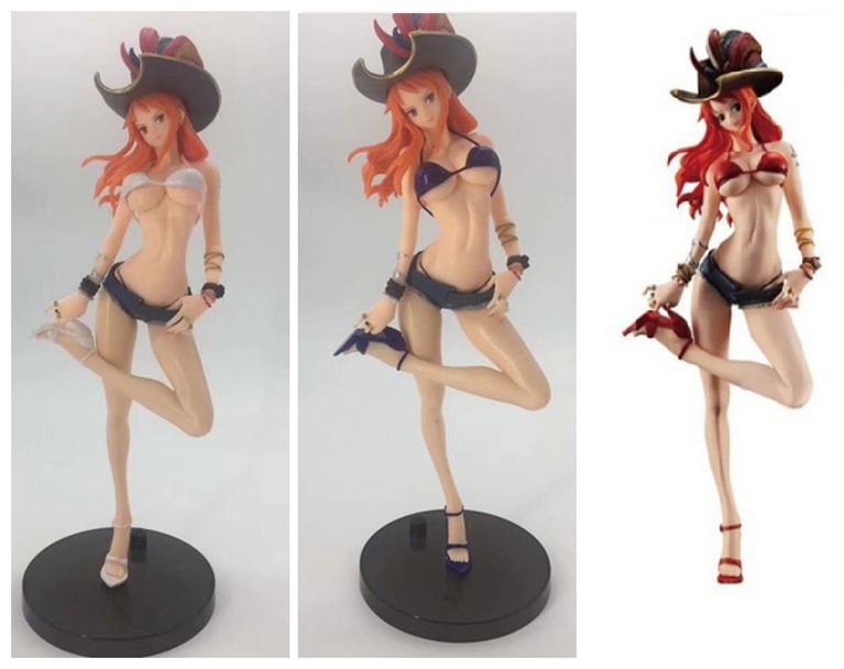 27CM pvc Japanese anime figure ONE PIECE Nami SEXY GIRL detachable suit captain action figure collectible model toys zxz 23cm anime nisekoi kirisaki chitoge 1 8 cute sexy girl pvc figure toys action figure toys collectible model gifts