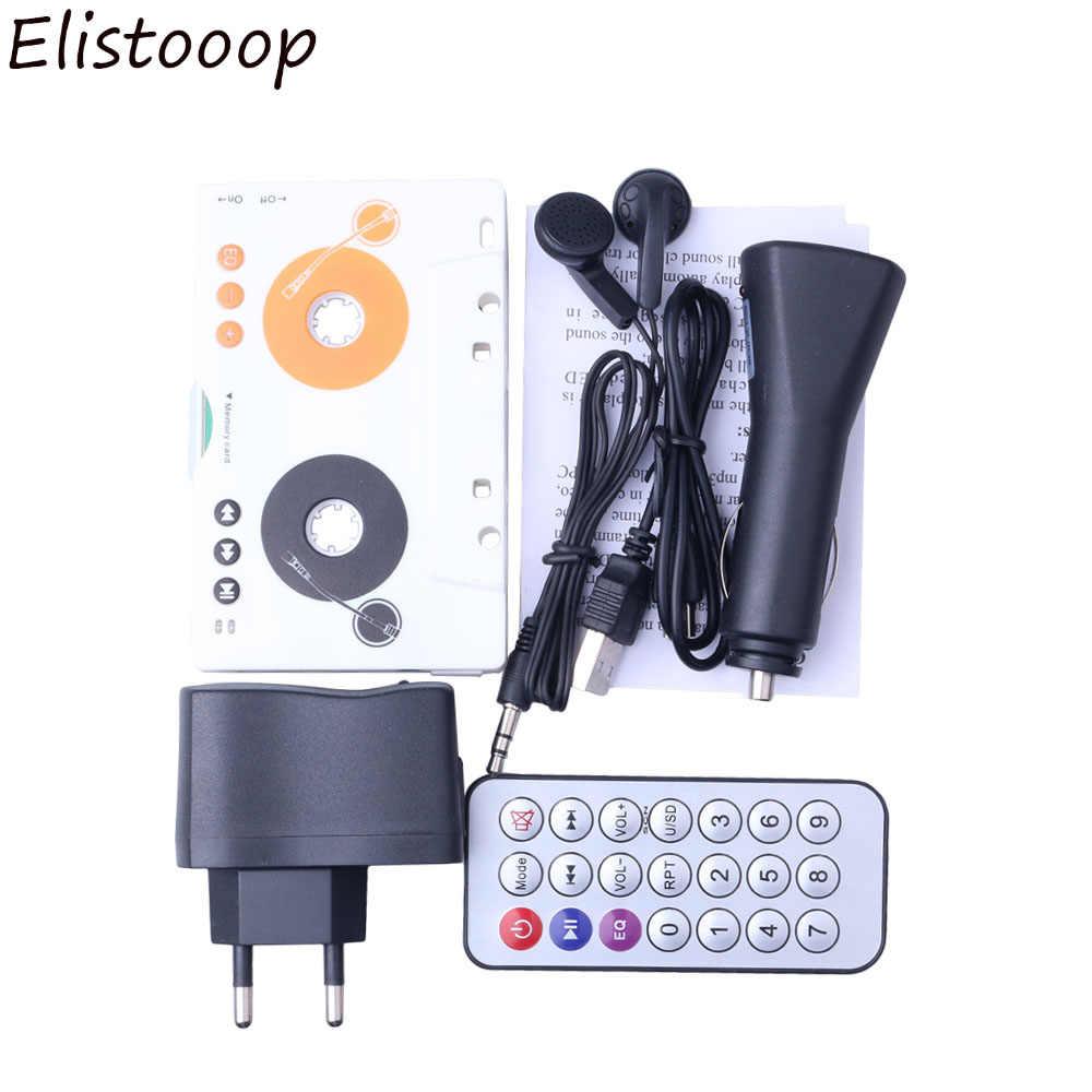 ポータブルヴィンテージ車カセット SD MMC MP3 テーププレーヤーアダプタキットリモコンステレオオーディオカセットプレーヤー CY942