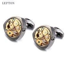 Лептон золотые часы запонки для мужчин свадьба жених Мода неподвижное