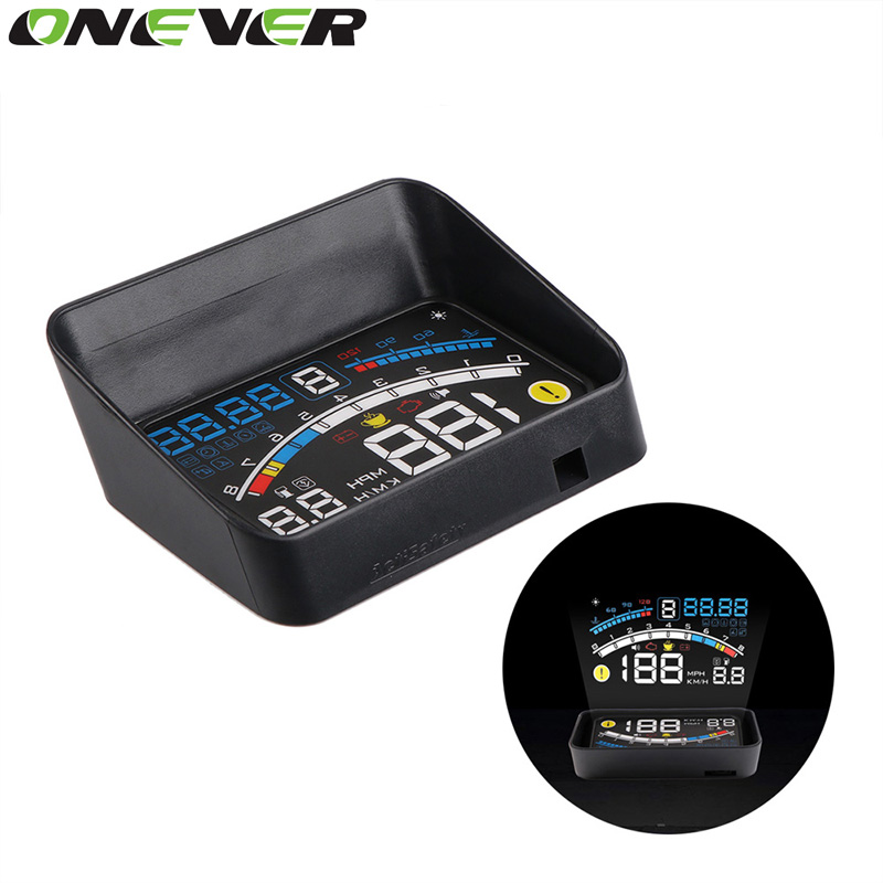 """imágenes para Onever 4E 5.5 """"coche OBD2 II EUOBD Proyector Sistema car HUD Head Up Display Sobrevelocidad Advertencia Parabrisas Auto Alarma Electrónica"""