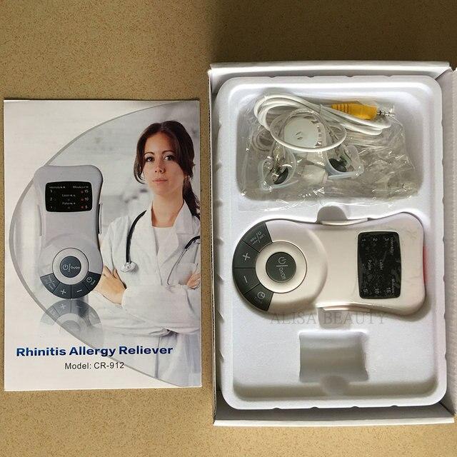 Máquina de terapia de rinitis Original, dispositivo para el tratamiento de la Sinusitis y la fiebre del heno con láser de baja frecuencia, aliviador de alergia, masajeador para tratamiento nasal
