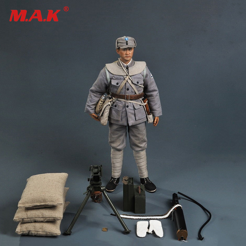 все цены на SoldierStory SS098 1/6 WWII Eighth Route Army Machine Gunner Collectible Figure full set action figure онлайн