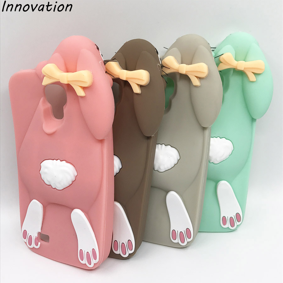 3D Cartoon Soft Silicone Rabbit Phone Case Back Cover Skin For Samsung Galaxy Core Grand Prime S4 S5 S6 For Iphone 5 5S 6 6S 7 8