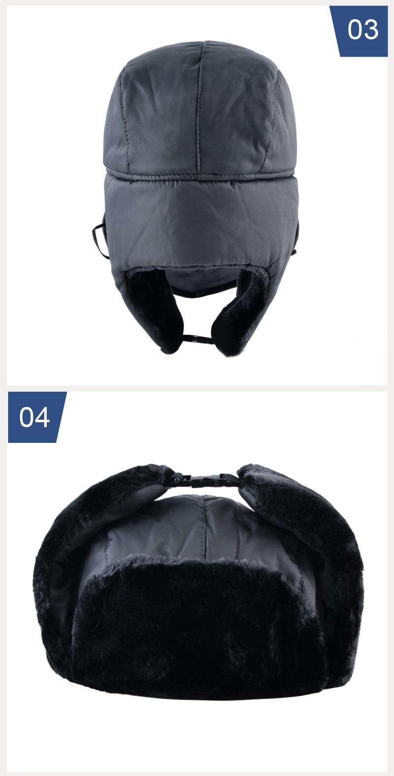 f4d37c38210 ... russian ushanka caps men. Style2   Winter hat bomber hats for men  thicken balaclava. 2 3 ...