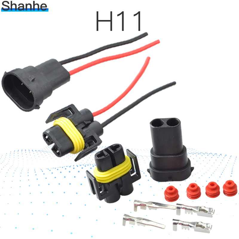 1 kits H8 H9 H11 Wiring Harness Socket Car Wire Connector Cable Plug Adapter for HID LED Foglight Head Light Lamp Bulb Led Light
