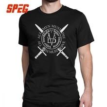 Game Of Thrones T-Shirts Arya Stark Valar Morghulis Man's Short Sleeved Vintage Tees Crewneck Cotton Tops T Shirt Plus Size цена и фото