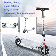 2018 New Folding Big Two Wheels Adults Scooter Fun Play Cool Skateboard Adjustable Height Urban Kick Foot Scooter Great Gift