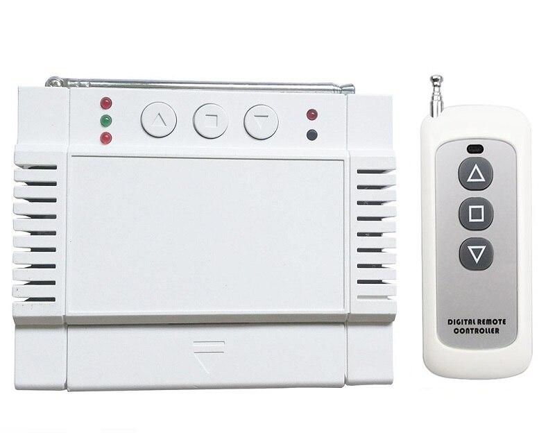 AC220V 250 v 380 v 2CH RF Télécommande Sans Fil Récepteur et Transmetteur volets tubulaire moteur garage porte écran de projection stores