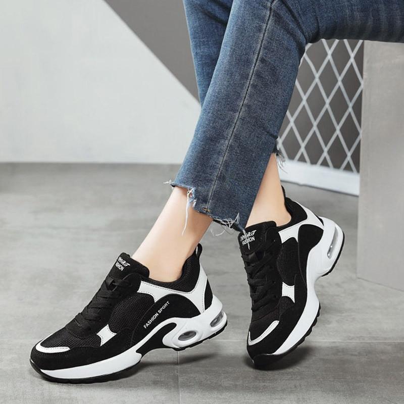 Respirant Air Mesh Femmes Chaussures de Sport 2018 Printemps Femmes Sneakers Chaussures De Mode Lacent Plats En Plein Air Chaussures Dames tenis feminino - 2