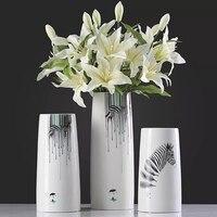 modern ceramic zebra Flower Vase home decoration animal flower vase tabletop decor craft new house gift