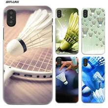 BiNFUL funda de bádminton y béisbol de plástico duro caso claro cubierta Coque para iPhone XS Max XR X o 10 6 6 6 s 7 8 Plus 5S iPhone 5 4S 4(China)