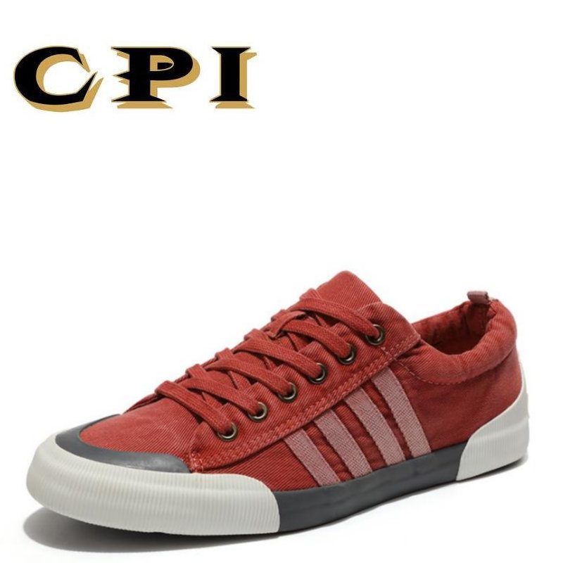 CPI Canvas Shoes Men Casual Shoes Breathable Wear-resistant Shoes Comfortable Round Toe Lace-up sneakers Flat Shoes DD-06