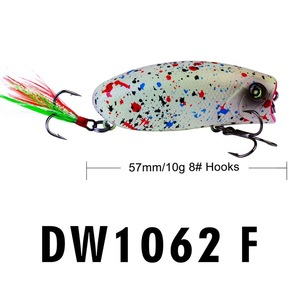 Image 4 - 1PCS מיני פופר פיתוי 5.7CM 10G פתיונות פורל האולטרה דיג פיתוי topwater פיתיון עידון Crankbait Wobbler מינאו isca פופר
