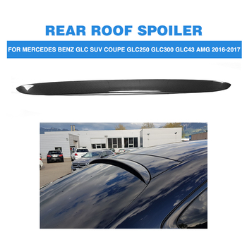 Carbon Fiber Rear Roof Boot Wing Lip Spoiler For Mercedes Benz GLC Class X253 Sport Utility 4 Door GLC43 AMG Sport GLC300 16-17 image