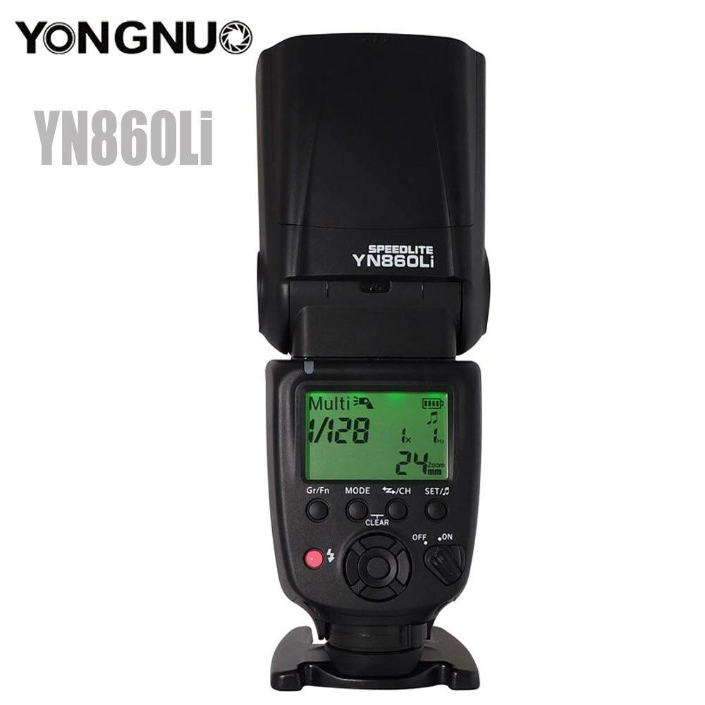 Yongnuo YN860Li Sans Fil Flash Speedlite avec 1800 mah Lithium Batterie pour Nikon Canon Compatible YN560III YN560IV YN560-TX RF605
