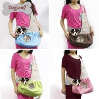 Fashion Durable Canvas Single Shoulder Dog Cat Carrier Pet Sling Bag Pet dog cat Travelling bag Leisure style Breathable bag
