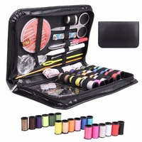 Mini Beginner Sewing Kit Case Set Supplies Adults Kids Home Travel Campers For Sewing Decoration Crafts
